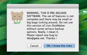 LDM_Beta_Warning